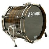SONOR Ascent Bass Drum [ASC11 1814 BD WM] - Ebony Stripes
